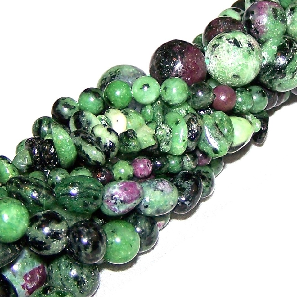 Ruby Zoisite Gemstone Beads