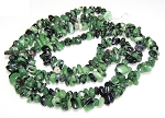 1 Strand of Semiprecious Gemstone Chip Beads - Ruby Zoisite