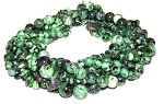 Ruby Zoisite Semiprecious Gemstone Beads - 8 Strand Set