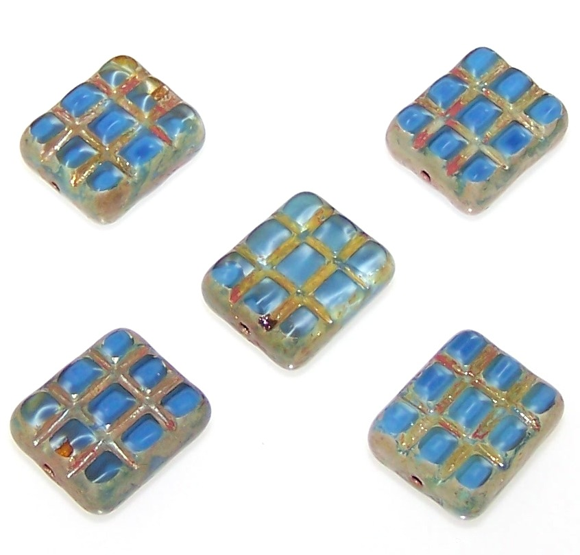 Czech Glass Rectangle Beads