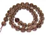 1 Dozen Smoky Quartz 10mm Round Semiprecious Gemstone Beads