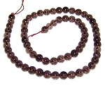 1 Strand of 6mm Round Semiprecious Gemstone Beads - Smoky Quartz