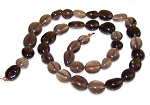 1 Dozen Smoky Quartz 7x10mm Irregular Nuggets Semiprecious Gemstone Beads