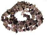 1 Strand of Semiprecious Gemstone Chip Beads - Smoky Quartz