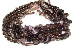 Smoky Quartz Semiprecious Gemstone Beads - 9 Strand Set