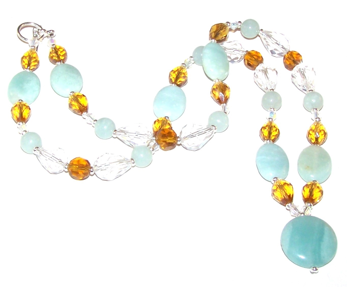 Sparkling Amazonite Necklace Free Beaded Jewelry Making Pattern
