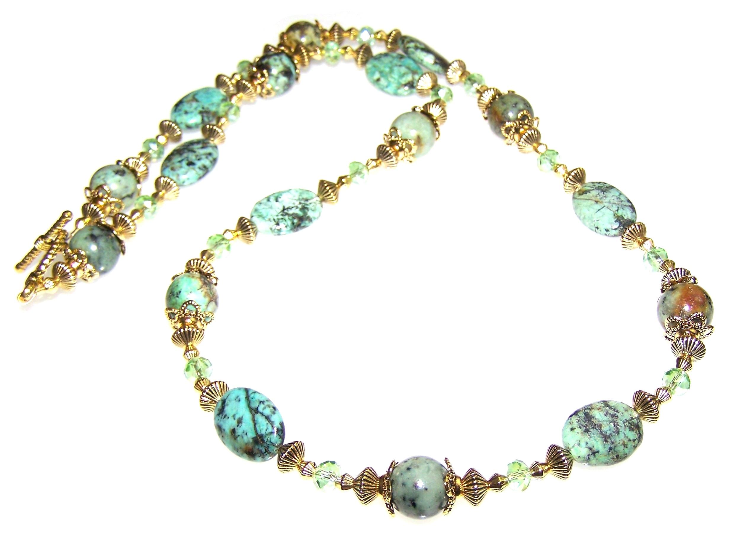 Stormy Seas Necklace Beaded Jewelry