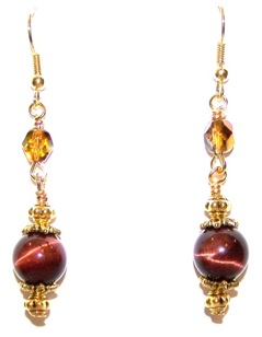 Tiger Eye Delight Free Earrings Pattern