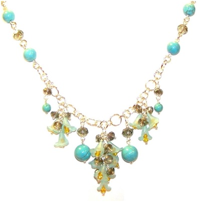 Turquoise Temptation Necklace Free Jewelry Making Pattern