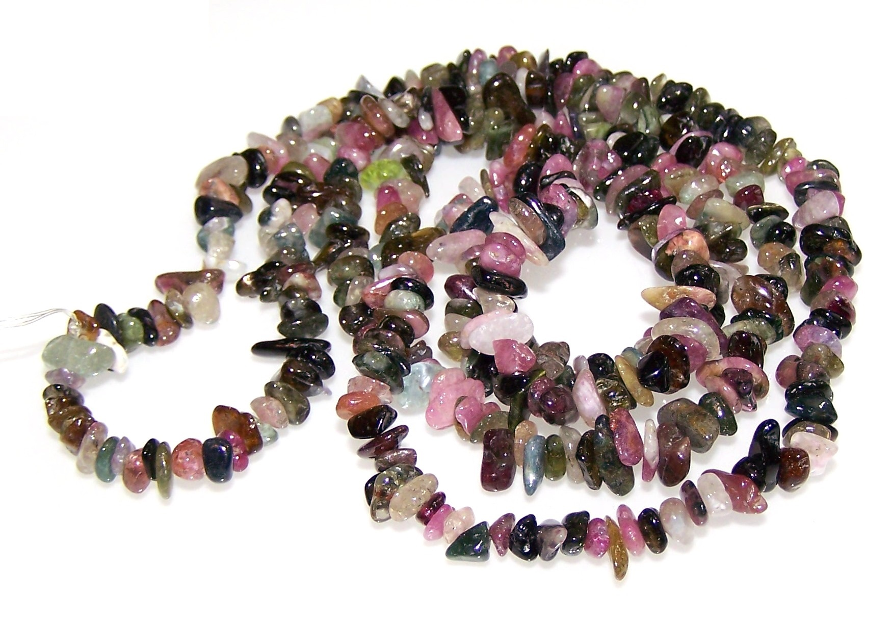 Semi Precious Tourmaline Gemstone Chip Necklace