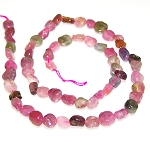1 Dozen 7x10mm Irregular Nuggets Semiprecious Gemstone Beads - Tourmaline