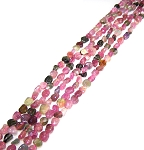 1 Strand of 7x10mm Irregular Nuggets Semiprecious Gemstone Beads - Tourmaline