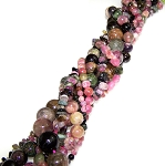 Tourmaline Semiprecious Gemstone Beads - 7 Strand Set