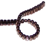 25 Czech Glass 2-Hole 3x6mm Brick Beads - Dark Bronze