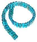 25 Czech Glass 2-Hole 3x6mm Brick Beads - Twilight Teal