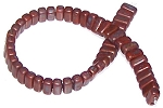 25 Czech Glass 2-Hole 3x6mm Brick Beads - Copper Picasso Umber