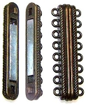 1 Antique Bronze 44x14mm Super Strong 8-Strand Magnetic Clasp