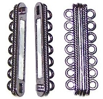 1 Gunmetal 48x16mm Super Strong 7-Strand Magnetic Clasp
