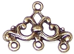 10 Antique Bronze 16x24mm Ornate 3-Loop Connectors