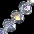 6 Crystal AB 18x14mm Glass Crystal Rondelles