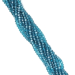 1 Strand of 3x2mm Glass Crystal Rondelle Beads - Blue Diamond