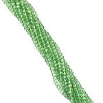 1 Strand of 3x2mm Glass Crystal Rondelle Beads - Peridot