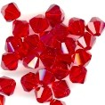 25 Ruby Red 8mm Glass Crystal Bicones