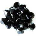 25 Black 8mm Glass Crystal Bicones