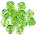 25 Peridot 8mm Glass Crystal Bicones