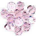 25 Pink 8mm Glass Crystal Bicones
