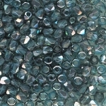 4 Dozen Czech 2mm Fire-Polished Glass Beads - Aqua Celsian