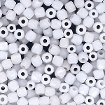 4 Dozen Czech 2mm Fire-Polished Glass Beads - Chalk White