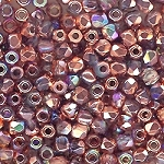 4 Dozen Czech 2mm Fire-Polished Glass Beads - Crystal Copper Rainbow