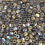 4 Dozen Czech 2mm Fire-Polished Glass Beads - Crystal Gold Rainbow