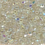 4 Dozen Czech 2mm Fire-Polished Glass Beads - Crystal Green Rainbow