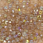 4 Dozen Czech 2mm Fire-Polished Glass Beads - Crystal Lemon Rainbow