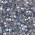 4 Dozen Czech 2mm Fire-Polished Glass Beads - Crystal Silver Rainbow
