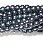 1 Strand of Czech Glass 3mm Pearl Beads - Grey