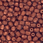 4 Dozen Czech 4mm Fire-Polished - Copper