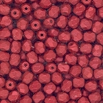 4 Dozen Czech 4mm Fire-Polished - Lava Red