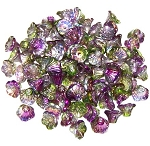 25 Czech Glass 7x5mm Flower Cup Beads - Crystal Magic Orchid