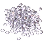 50 Dragon Scale Beads - Aluminum Silver