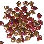 50 Dragon Scale Beads - California Goldrush