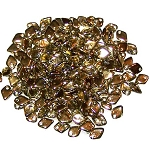 50 Dragon Scale Beads - Crystal Amber