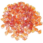 50 Dragon Scale Beads - Crystal Apricot Medium