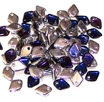 50 Dragon Scale Beads - Crystal Bermuda Blue