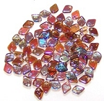 50 Dragon Scale Beads - Crystal Brown Rainbow