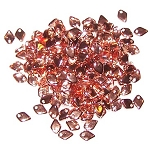 50 Dragon Scale Beads - Crystal Capri Gold
