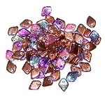 50 Dragon Scale Beads - Crystal Copper Rainbow