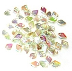50 Dragon Scale Beads - Green Rainbow